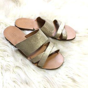 J. Crew Glitter fabric sandals